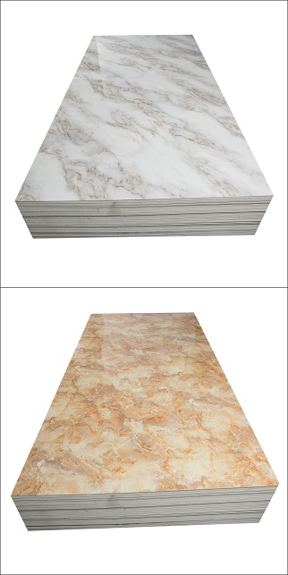 Hot sale spc wall panel fireproof pvc marble sheet high glossy 4x8 pvc flexible plastic sheet (图2)