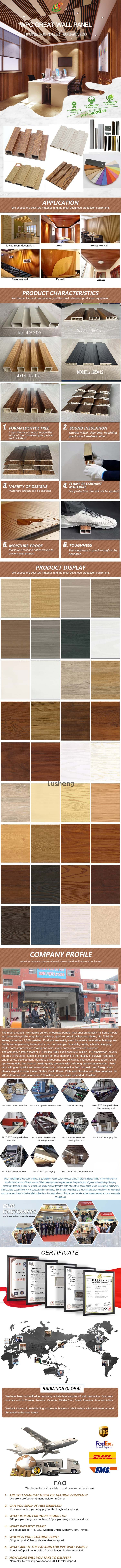 New decoration material wood grain surface decorative wood wall covering panels wpc panels for wall (图1)